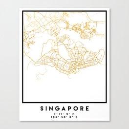 SINGAPORE CITY STREET MAP ART Canvas Print