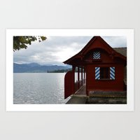switzerland Art Prints featuring Switzerland by Mackenzie Lee