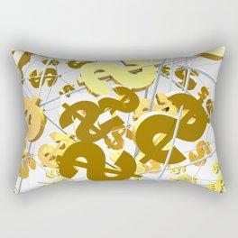 Golden dollar sign Rectangular Pillow
