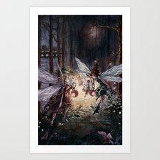 Fairies in Kensington Gardens Art Print