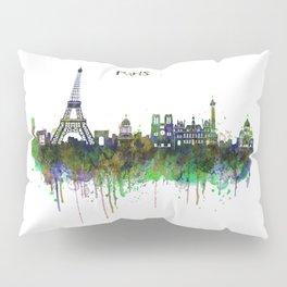 Paris Skyline watercolor Pillow Sham