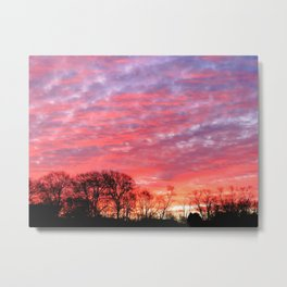 Morning Painted Skies Metal Print