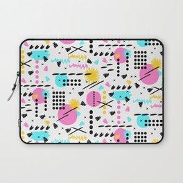 Memphis abstract pattern Laptop Sleeve