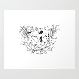 Death & Victory (Lineart) Art Print