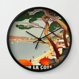 Vintage poster - Cote D'Azur, France Wall Clock