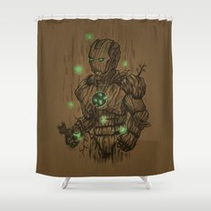 Wooden Man Shower Curtain