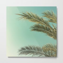 Autumn Palms II Metal Print