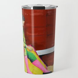 The Sad Bullfighter El Torero Triste Oleo Original sobre Lienzo Juan Manuel Rocha Kinkin Travel Mug