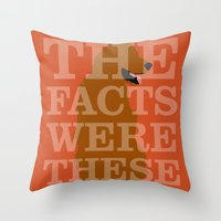 pushing daisies Throw Pillows featuring Pushing Daisies - Digby by MacGuffin Designs