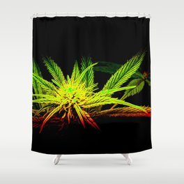 Rasta Plant Glows (The Healing of the Nations) Shower Curtain