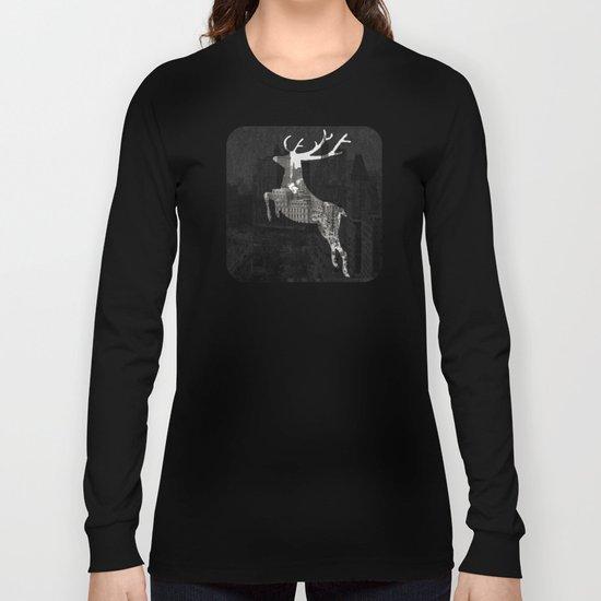Deer City Collage 1 Long Sleeve T-shirt