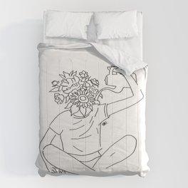 rega-te como flores e floresça todos os dias Comforters