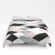 Pastel Scheme Geometry Comforters