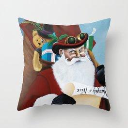 Naughty or Nice Throw Pillow