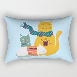 Cat cuddle -Hand Draw Rectangular Pillow