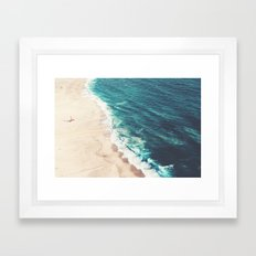 Beach Nazare Framed Art Print