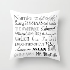 Narnia Words - Square Throw Pillow