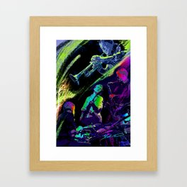 Colorful Jazz Framed Art Print