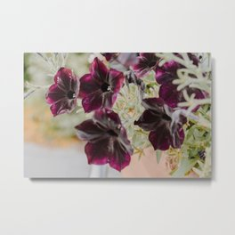 Purple Garden Flowers Metal Print