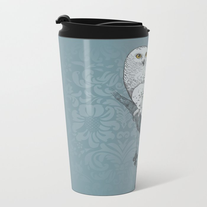 Secrets of the Snowy Owl Metal Travel Mug