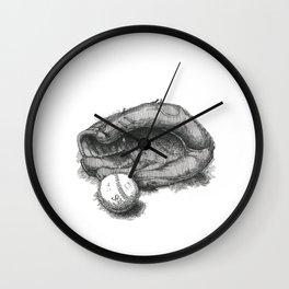 Baseball by James Skistimas Wall Clock
