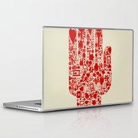 medicine Laptop & iPad Skins featuring Hand medicine by aleksander1