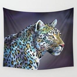 Leopard Moonlight in A-Minor Wall Tapestry