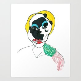 Portrait with epaulettes Art Print