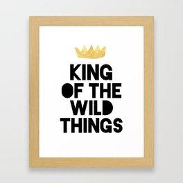 KING OF THE WILD THINGS Framed Art Print