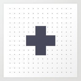white cross Art Print