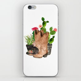 Boots and Cactus iPhone Skin