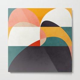 modern shapes 6 Metal Print