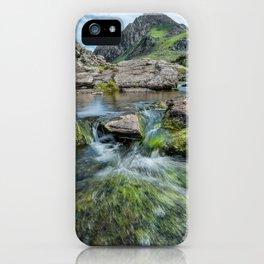 Tryfan Mountain Stream  iPhone Case