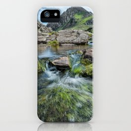 Tryfan Mountain Stream  iPhone Case
