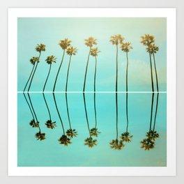 Palm Reflections Art Print