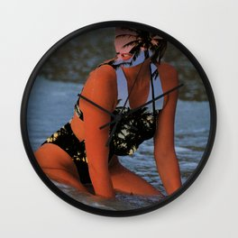 Tropical Babe Wall Clock