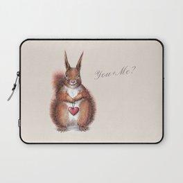 Squirrel heart love Laptop Sleeve