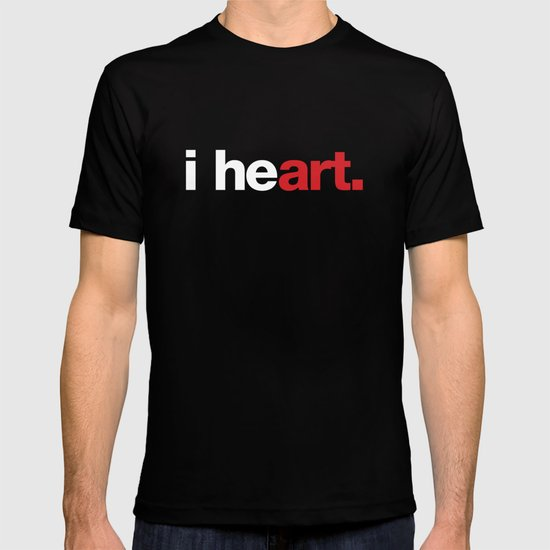 i heart (black) T-shirt