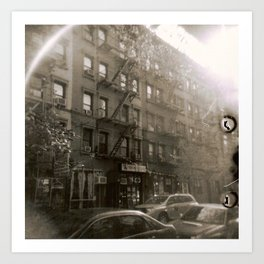 New York Street with Holga Art Print