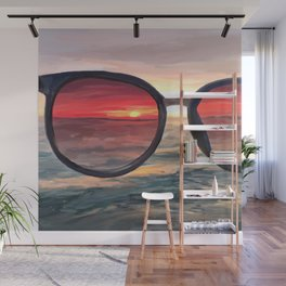 Shaded Key West Sunset Wall Mural
