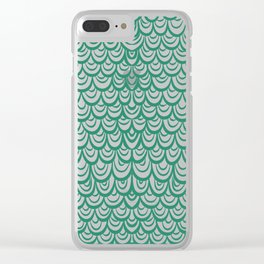 Watercolor Mermaid Emerald Clear iPhone Case