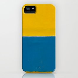 Untitled (Yellow and Blue) by Mark Rothko HD iPhone Case