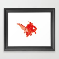Moirè Goldfish Framed Art Print