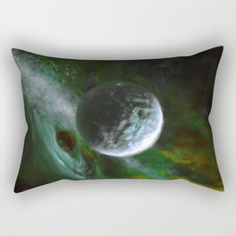 Planet and Black Hole Rectangular Pillow