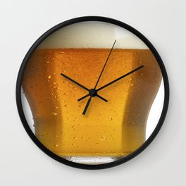 Cold Beer Cover Case Wall Clock