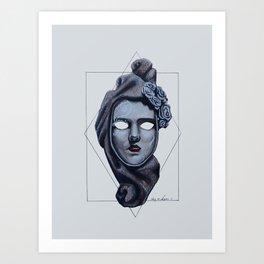 Female Venetian Mask | Watercolor and Colored Pencil  Art Print