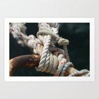 nautical Art Prints featuring Nautical by Marietta Dc Fameli
