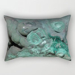 Natural Malachite Rectangular Pillow