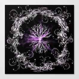 Tree of Life, Purple Universe, Cosmic Tree Canvas Print
