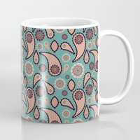 paisley Mugs featuring Paisley by Lisi Fkz